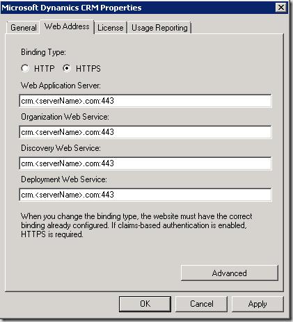 Microsoft Dynamics CRM 2011: The Server Address is not valid