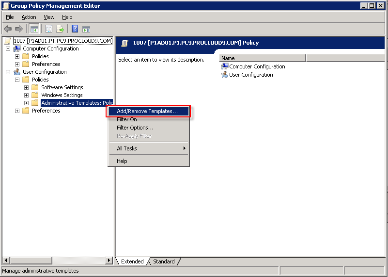 Hiding the My Network Places from a RemoteApp Windows