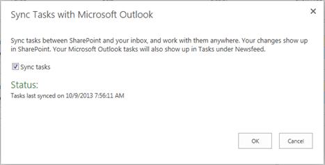 Project Online: Outlook Synchronization - Integent