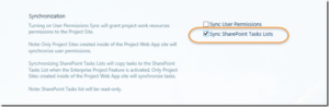 Sync SharePoint Task Lists