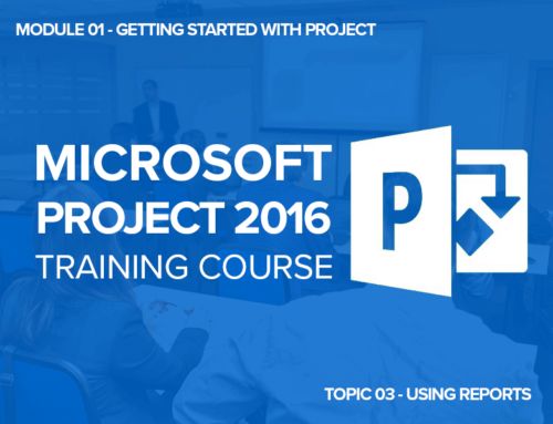 Microsoft Project Training: Lesson 01 – Getting Started, Topic 03 – Using Reports